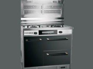 阿米迪厨卫电器图片灵动翻盖式吸烟 现代风集成灶效果图