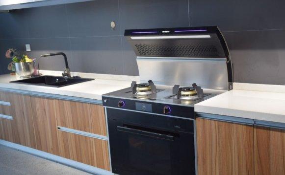 美多集成灶图片 美多Q8蒸烤一体集成灶智能化厨房效果图
