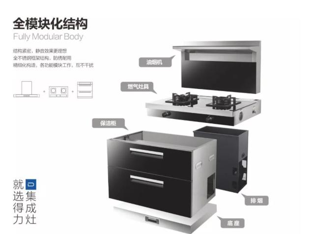 得力厨卫电器图片 集成灶厨房装修效果图_2