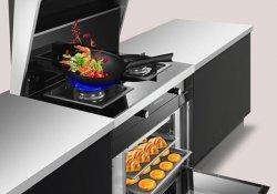 老虎游戏图片A900KX 现代风格蒸烤消一体集成灶效果图