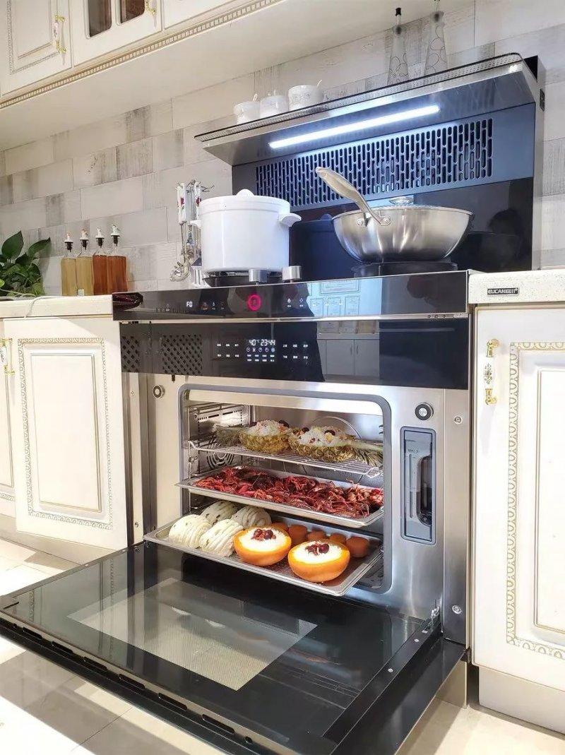 欧川集成灶图片 集成灶厨房装修效果图