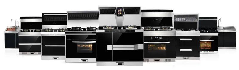 火星一号集成灶图片 集成灶厨房装修效果图