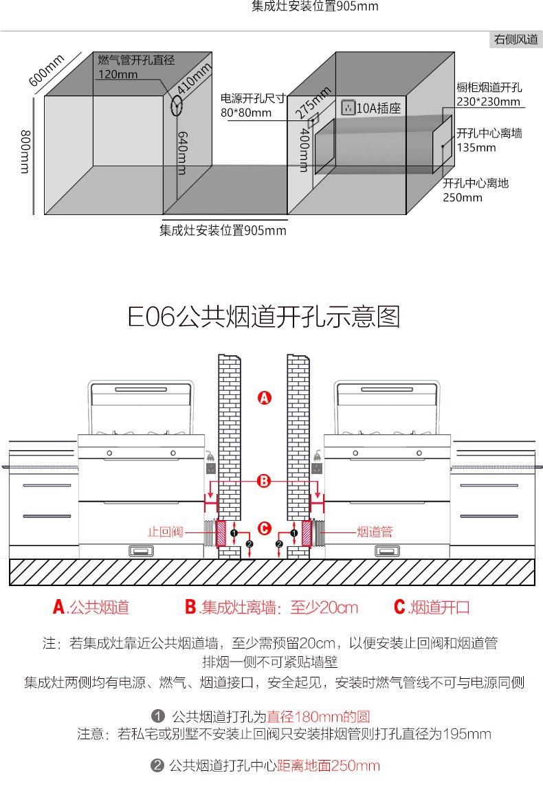奥田集成灶图片 E06风神环保灶效果图