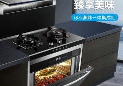 潮邦i8zk集成灶产品图片 黑色系效果图