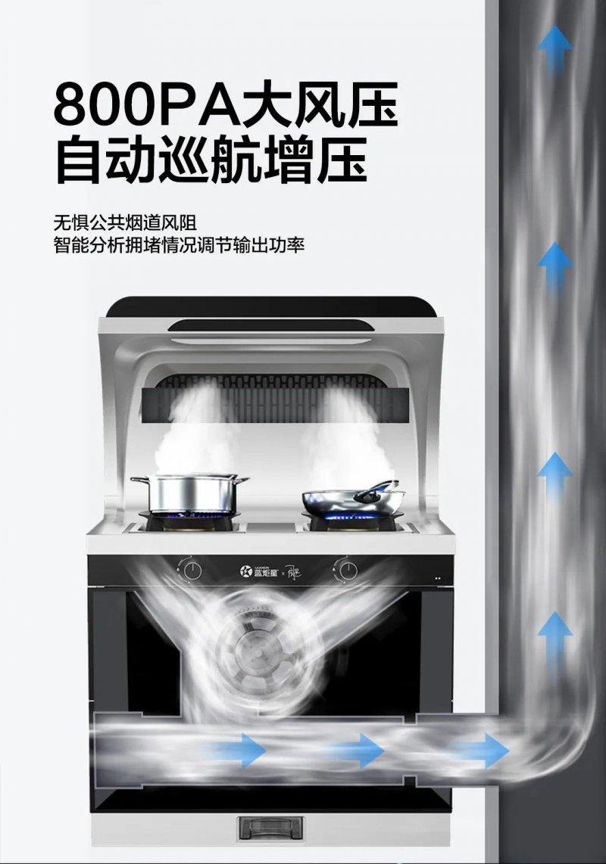 蓝炬星周迅·1号变频集成灶产品介绍效果图